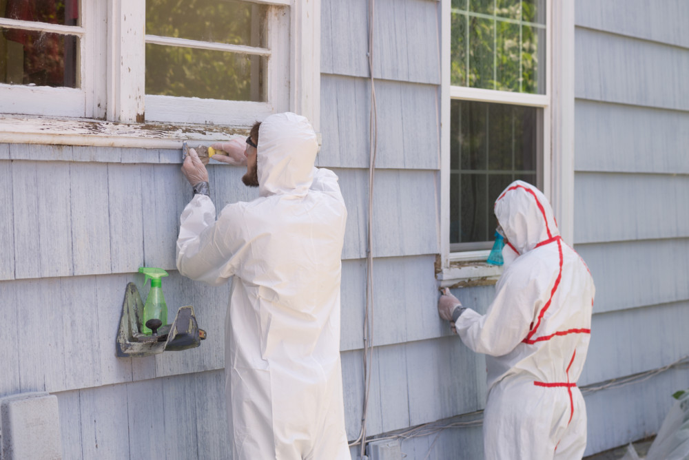 How to test for asbestos in your home emi alaska for Removing lead paint from exterior of house